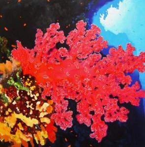 37624 hamawi.pink alcyonarian.91.5 x 91.5cm