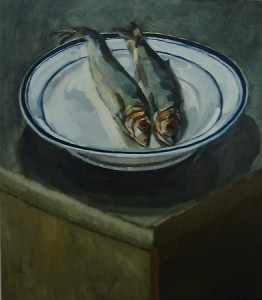 ''Two Herring on a plate''