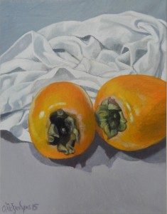 Still life with Sharon Fruit