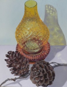Still life with pinecones