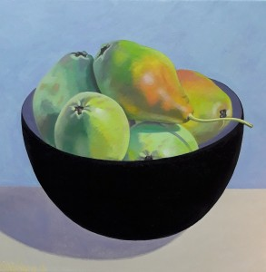 ''Black bowl with Pears''