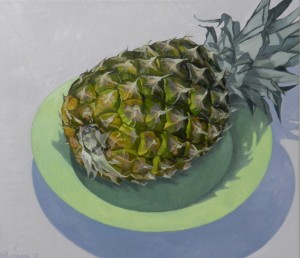 ''Pineapple and Plate ''
